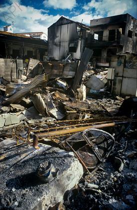 mhc-ghe 195 s5-15   The remains of a house in Higashinada a week after the quake struck   Keywords: earthquake, kobe, japan, fire, destruction, devastation, higashinada
