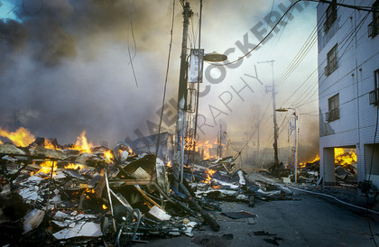 mhc-ghe 195 s4-4   The fires in Higashinada burned for three days.   Keywords: earthquake, kobe, japan, fire, destruction, devastation, higashinada